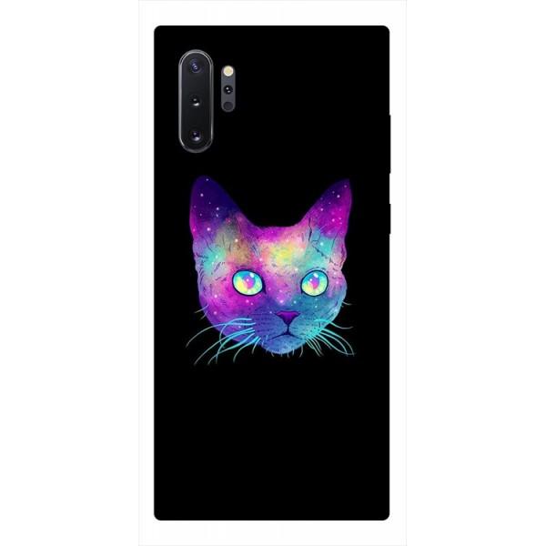 Husa Premium Upzz Print Samsung Galaxy Note 10+ Plus Model Neon Cat imagine itelmobile.ro 2021