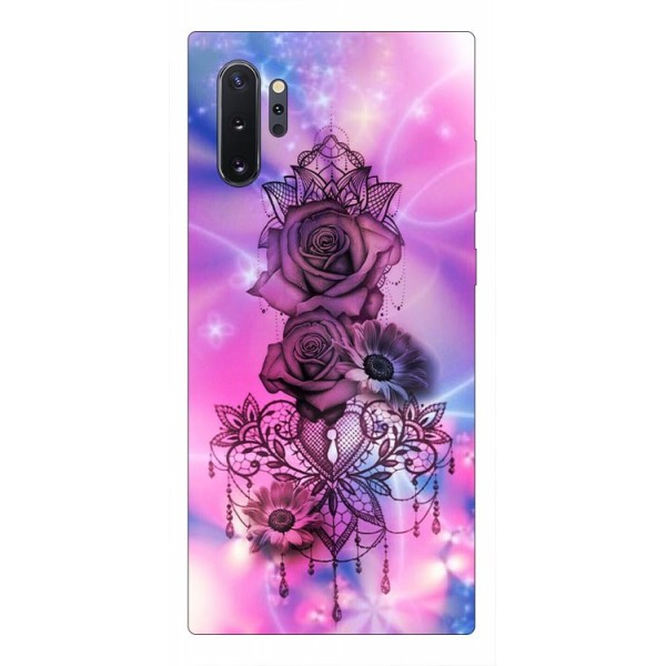 Husa Premium Upzz Print Samsung Galaxy Note 10+ Plus Model Neon Rose imagine itelmobile.ro 2021