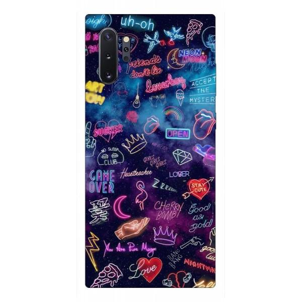 Husa Premium Upzz Print Samsung Galaxy Note 10+ Plus Model Neon imagine itelmobile.ro 2021