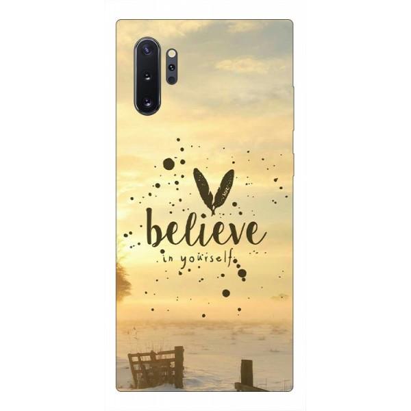 Husa Premium Upzz Print Samsung Galaxy Note 10+ Plus Model Believe imagine itelmobile.ro 2021