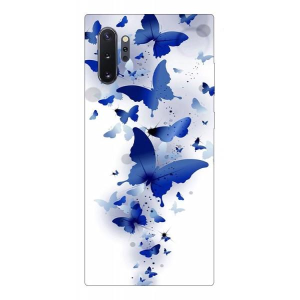Husa Premium Upzz Print Samsung Galaxy Note 10+ Plus Model Blue Butterflye imagine itelmobile.ro 2021