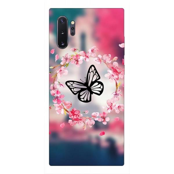 Husa Premium Upzz Print Samsung Galaxy Note 10+ Plus Model Butterfly imagine itelmobile.ro 2021