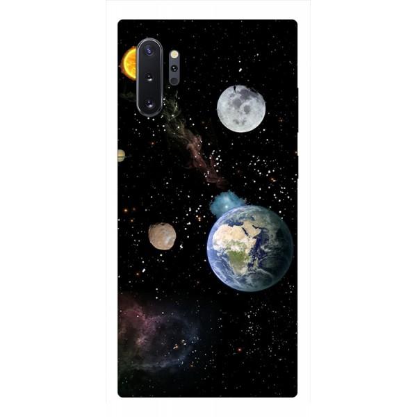 Husa Premium Upzz Print Samsung Galaxy Note 10+ Plus Model Earth imagine itelmobile.ro 2021