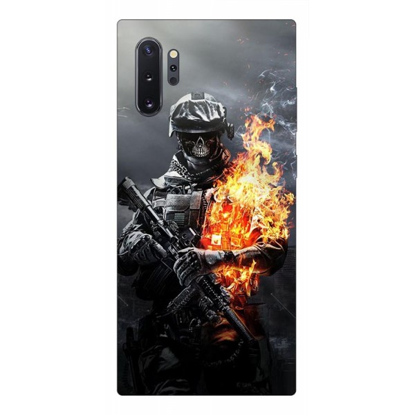 Husa Premium Upzz Print Samsung Galaxy Note 10+ Plus Model Soldier imagine itelmobile.ro 2021