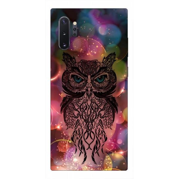 Husa Premium Upzz Print Samsung Galaxy Note 10+ Plus Model Sparkle Owl imagine itelmobile.ro 2021