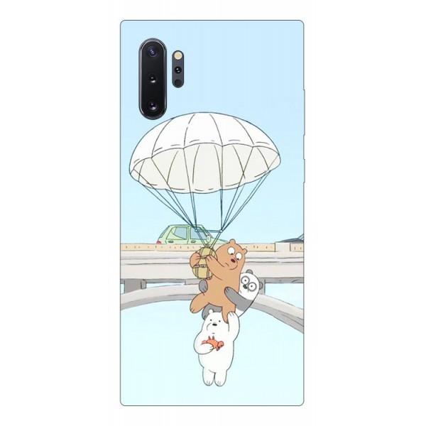Husa Premium Upzz Print Samsung Galaxy Note 10+ Plus Model Three Bears imagine itelmobile.ro 2021