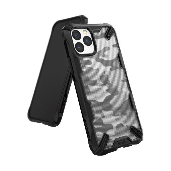 Husa Premium Ringke Fusion iPhone 11 Pro Max Camo Black imagine itelmobile.ro 2021