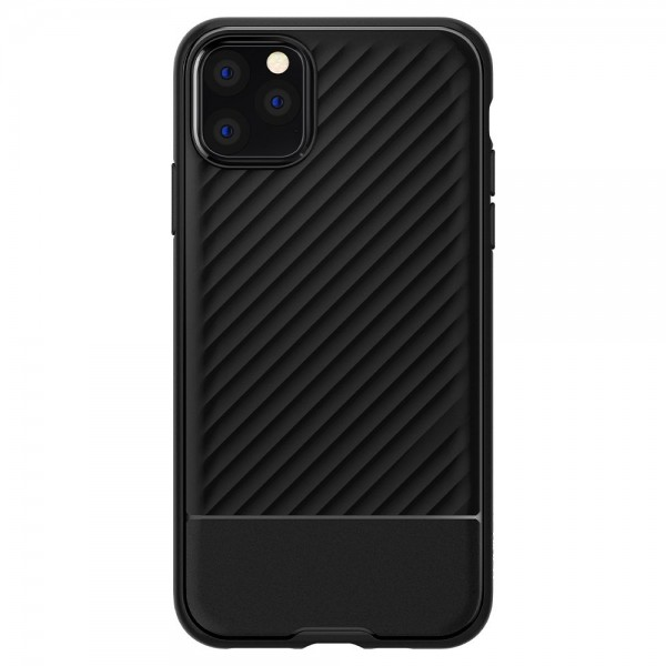 Husa Premium Originala Spigen Core Armor iPhone 11 Pro Negru Silicon imagine itelmobile.ro 2021
