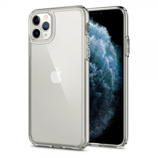Husa Premium Spigen Crystal Hybrid iPhone 11 Pro Anti-shock ,transparenta imagine itelmobile.ro 2021