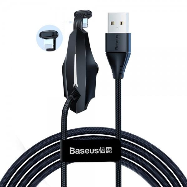 Cablu De Date Baseus Lightning 1.5a, 2m Pentru Gameri Negru Calxa-b01 imagine itelmobile.ro 2021