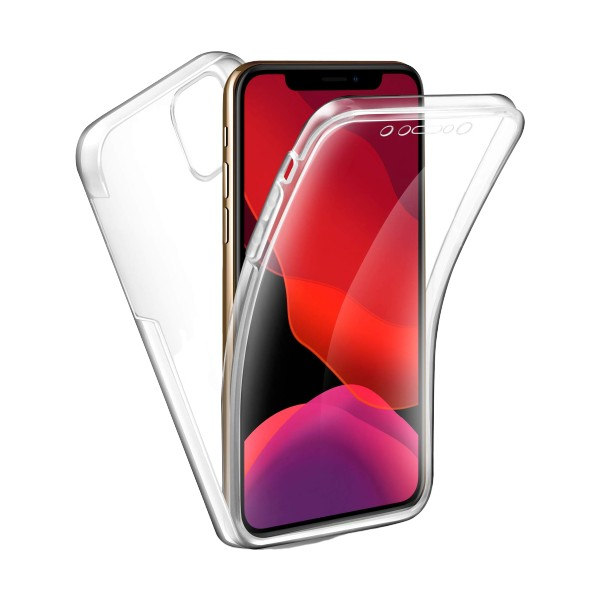 Husa 360 Grade Full Cover Upzz Case Silicon iPhone 11 Pro Transparenta imagine itelmobile.ro 2021