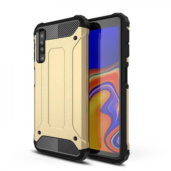 Husa Spate Armor Forcell Samsung A7 2018 Gold imagine itelmobile.ro 2021