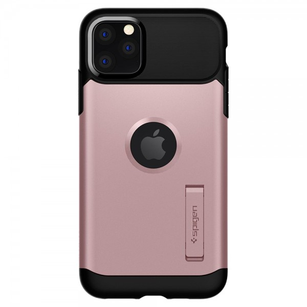 Husa Originala Premium Spigen Slim Armor iPhone 11 Pro, Negru Rose Gold imagine itelmobile.ro 2021