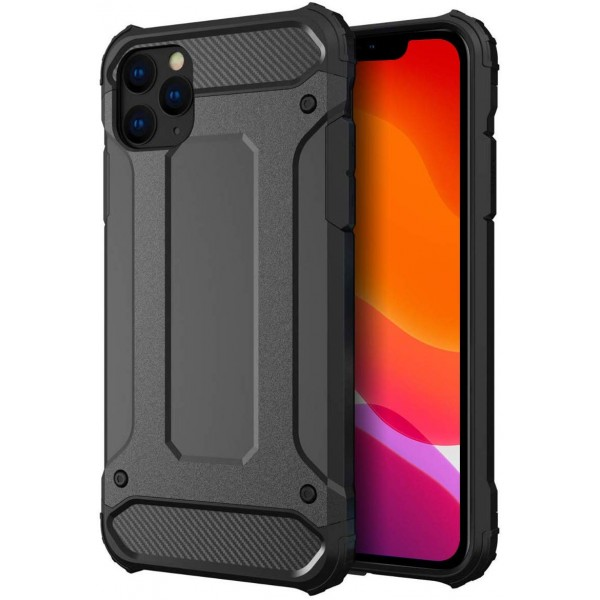 Husa Armor Upzz iPhone 11 Pro Anti-shock, Silicon Si Policarbonat ,negru imagine itelmobile.ro 2021