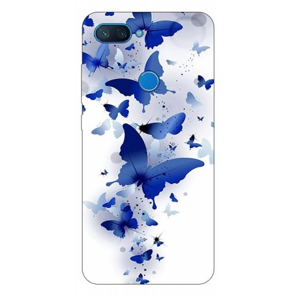 Husa Premium Upzz Print Xiaomi Mi 8 Lite Model Blue Butterflies imagine itelmobile.ro 2021