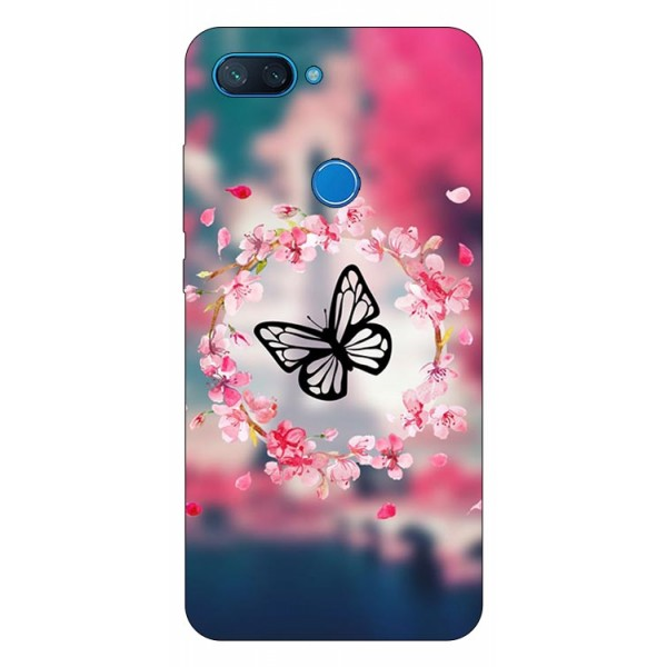 Husa Premium Upzz Print Xiaomi Mi 8 Lite Model Butterfly imagine itelmobile.ro 2021