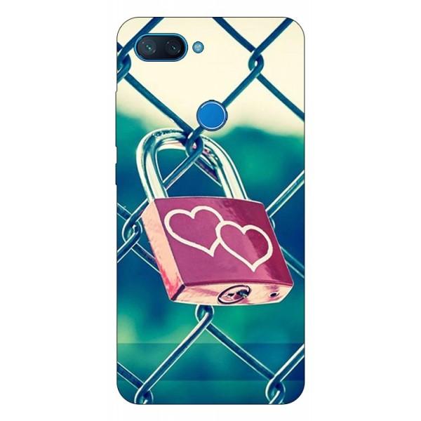 Husa Premium Upzz Print Xiaomi Mi 8 Lite Model Heart Lock imagine itelmobile.ro 2021