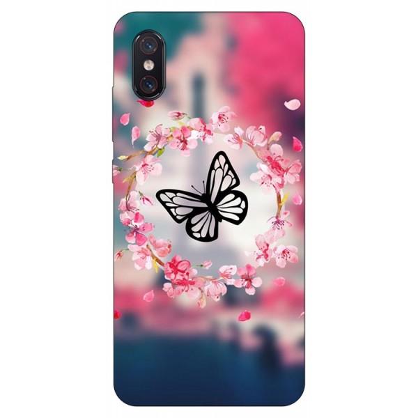 Husa Premium Upzz Print Xiaomi Mi 8 Pro Model Butterfly imagine itelmobile.ro 2021