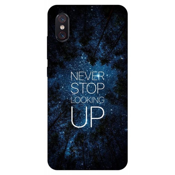 Husa Premium Upzz Print Xiaomi Mi 8 Pro Never Stop imagine itelmobile.ro 2021
