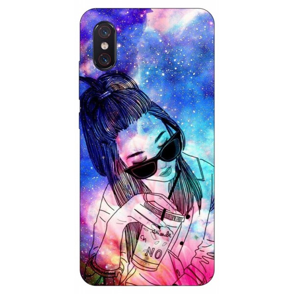 Husa Premium Upzz Print Xiaomi Mi 8 Pro Universe Girl imagine itelmobile.ro 2021