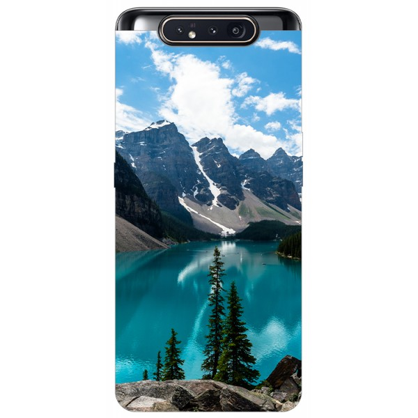 Husa Premium Upzz Print Samsung Galaxy A80 Model Blue imagine itelmobile.ro 2021