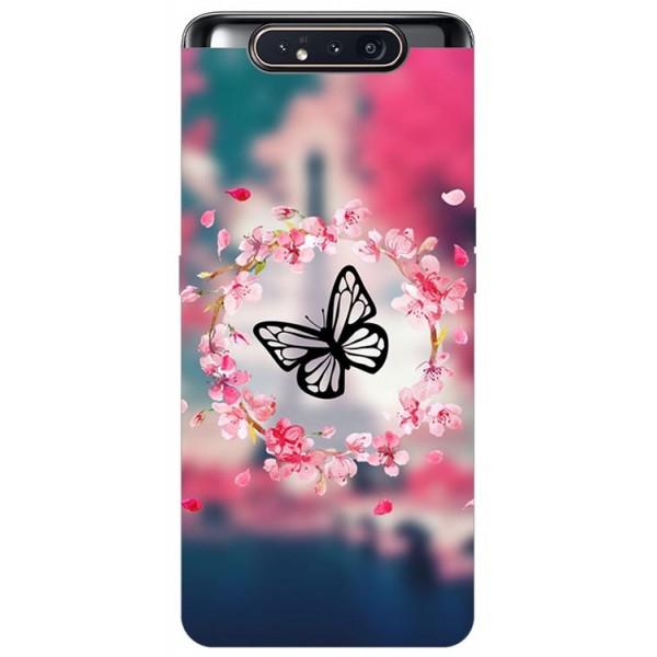 Husa Premium Upzz Print Samsung Galaxy A80 Model Butterfly imagine itelmobile.ro 2021