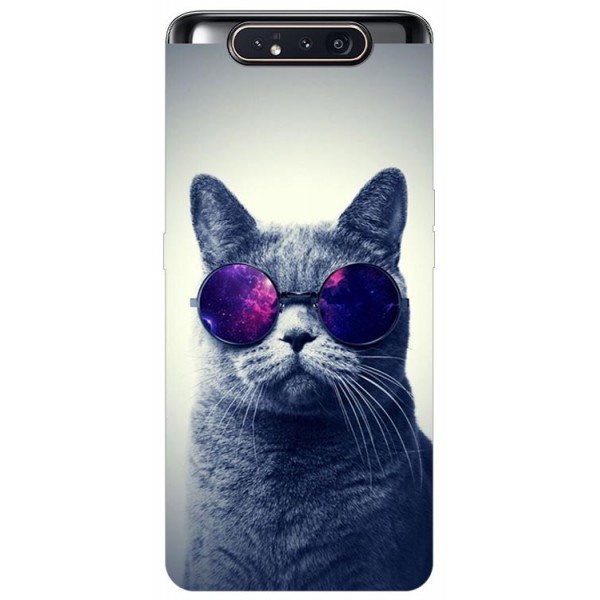 Husa Premium Upzz Print Samsung Galaxy A80 Model Cool Cat imagine itelmobile.ro 2021