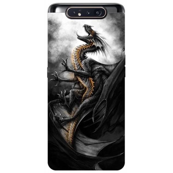 Husa Premium Upzz Print Samsung Galaxy A80 Model Dragon 1 imagine itelmobile.ro 2021