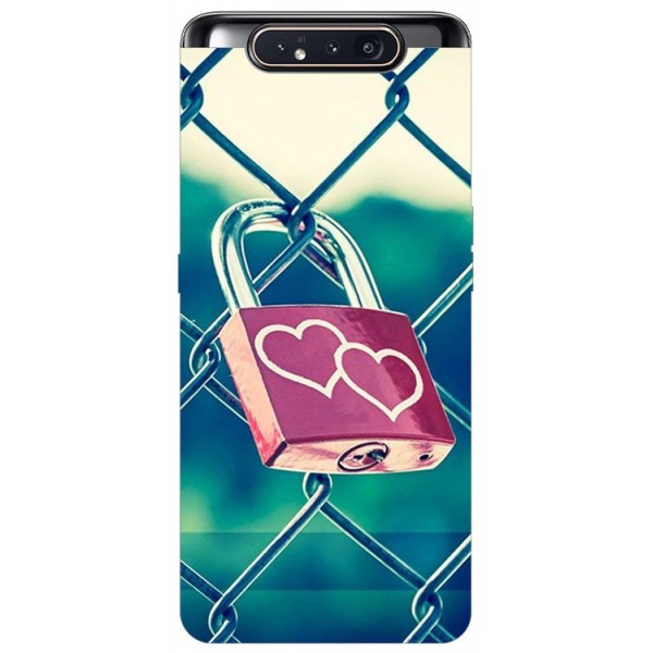 Husa Premium Upzz Print Samsung Galaxy A80 Model Heart Lock imagine itelmobile.ro 2021