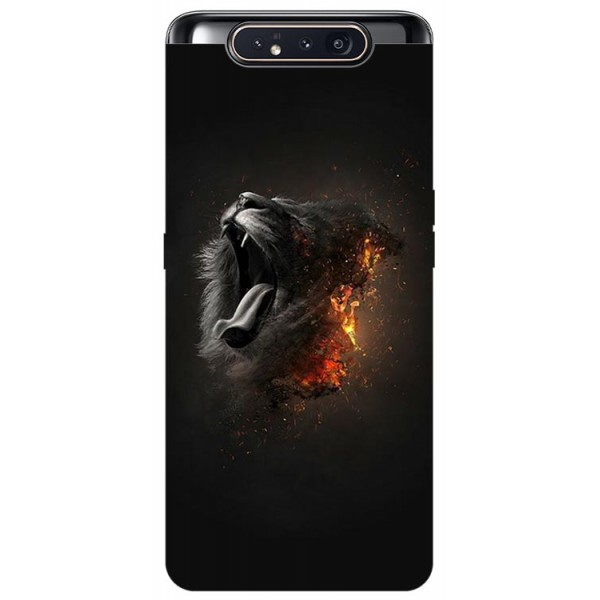 Husa Premium Upzz Print Samsung Galaxy A80 Model Lion imagine itelmobile.ro 2021