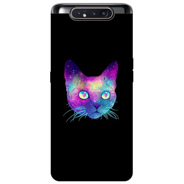 Husa Premium Upzz Print Samsung Galaxy A80 Model Neon Cat imagine itelmobile.ro 2021