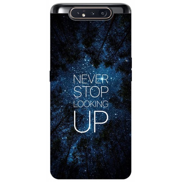 Husa Premium Upzz Print Samsung Galaxy A80 Model Never Stop imagine itelmobile.ro 2021