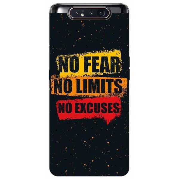 Husa Premium Upzz Print Samsung Galaxy A80 Model No Fear imagine itelmobile.ro 2021