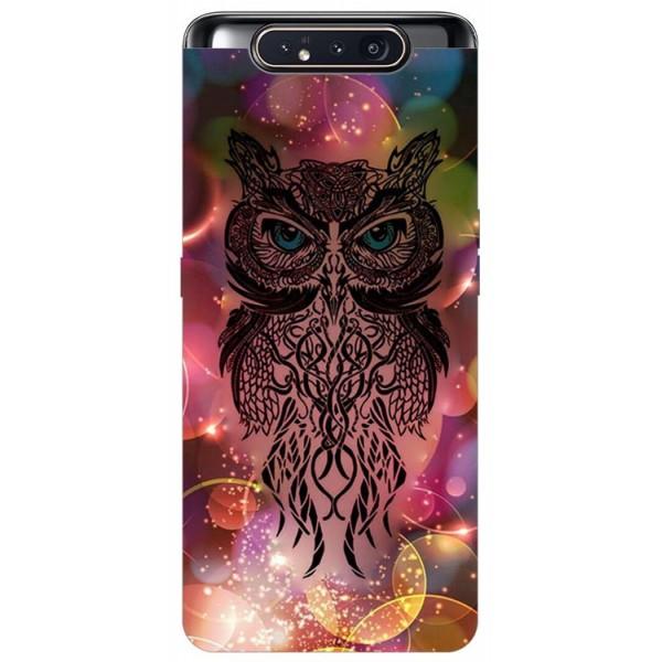 Husa Premium Upzz Print Samsung Galaxy A80 Model Sparkle Owl imagine itelmobile.ro 2021
