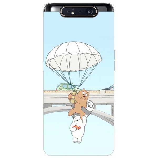 Husa Premium Upzz Print Samsung Galaxy A80 Model Three Bears imagine itelmobile.ro 2021