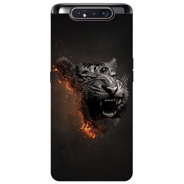 Husa Premium Upzz Print Samsung Galaxy A80 Model Tiger imagine itelmobile.ro 2021