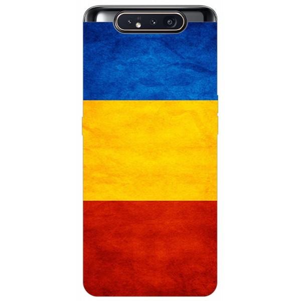 Husa Premium Upzz Print Samsung Galaxy A80 Model Tricolor imagine itelmobile.ro 2021