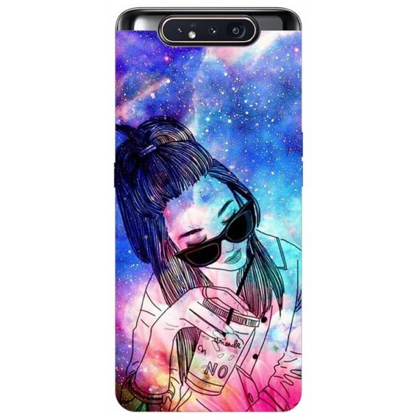 Husa Premium Upzz Print Samsung Galaxy A80 Model Universe Girl imagine itelmobile.ro 2021