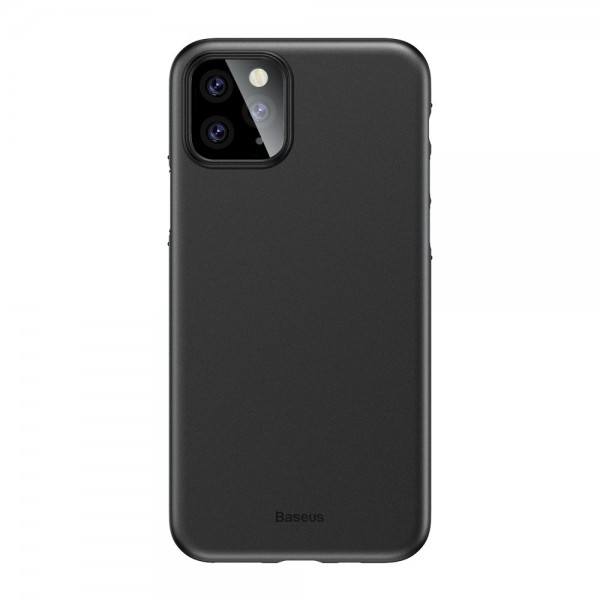 Husa Spate Ultra Slim Baseus Wing iPhone 11 Pro Negru 0,45mm Grosime imagine itelmobile.ro 2021