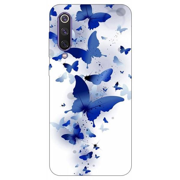Husa Premium Upzz Print Xiaomi Mi 9 Se Model Blue Butterflies imagine itelmobile.ro 2021