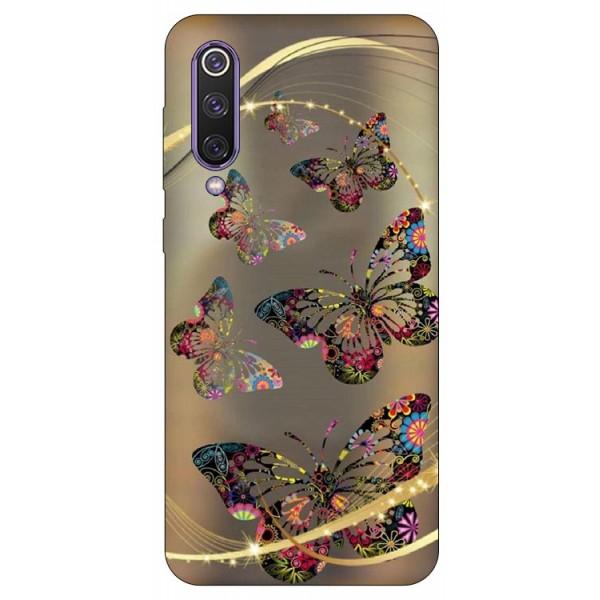 Husa Premium Upzz Print Xiaomi Mi 9 Se Model Golden Butterfly imagine itelmobile.ro 2021