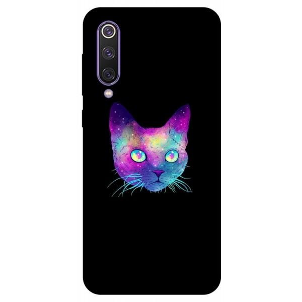 Husa Premium Upzz Print Xiaomi Mi 9 Se Model Neon Cat imagine itelmobile.ro 2021