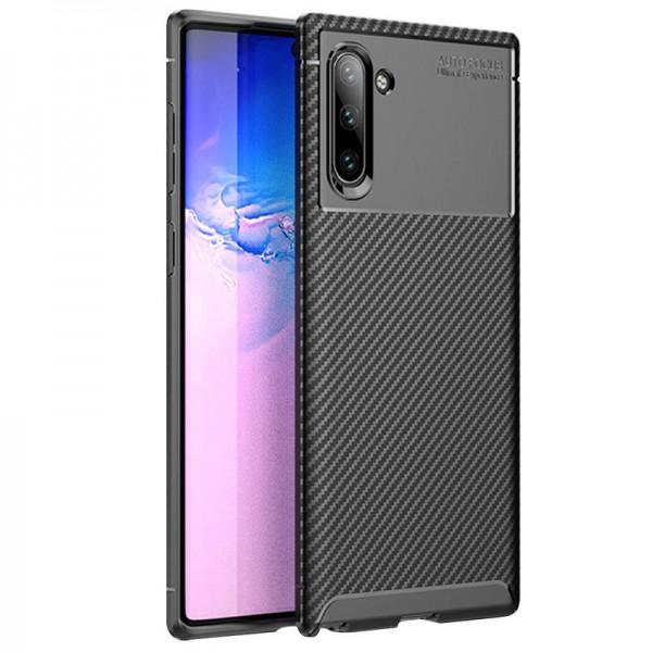 Husa Premium Rugged Carbon New Auto Focus Samsung Galaxy Note 10 Negru imagine itelmobile.ro 2021