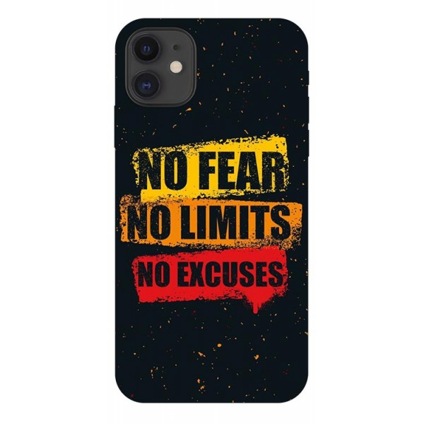 Husa Premium Upzz Print iPhone 11 Model No Fear imagine itelmobile.ro 2021