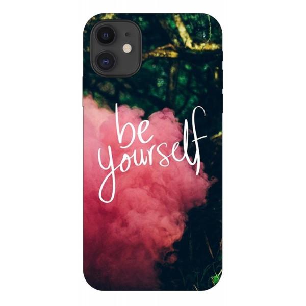 Husa Premium Upzz Print iPhone 11 Model Be Yourself imagine itelmobile.ro 2021