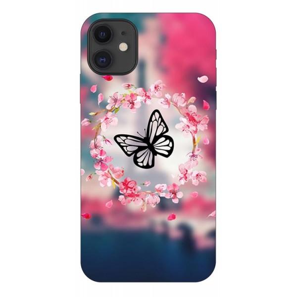 Husa Premium Upzz Print iPhone 11 Model Butterfly imagine itelmobile.ro 2021