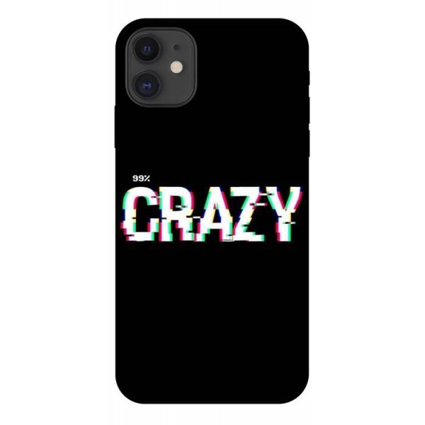 Husa Premium Upzz Print iPhone 11 Model Crazy imagine itelmobile.ro 2021