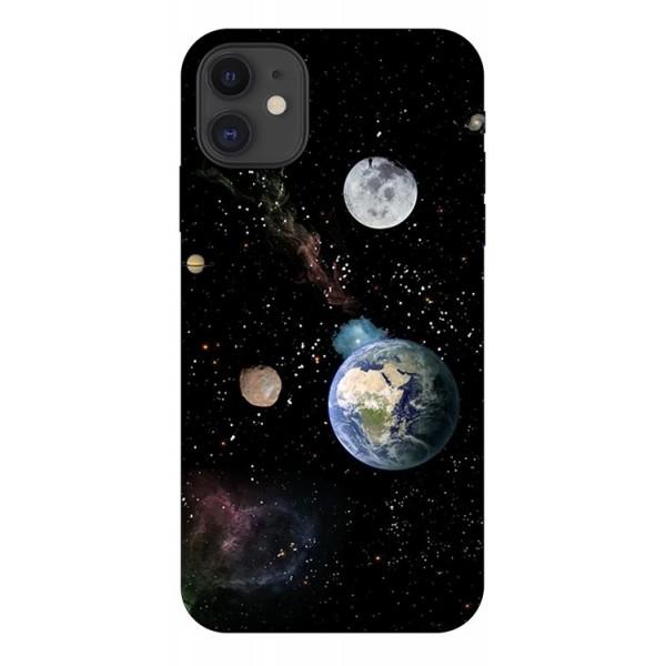 Husa Premium Upzz Print iPhone 11 Model Earth imagine itelmobile.ro 2021