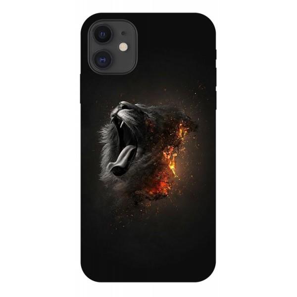 Husa Premium Upzz Print iPhone 11 Model Lion imagine itelmobile.ro 2021