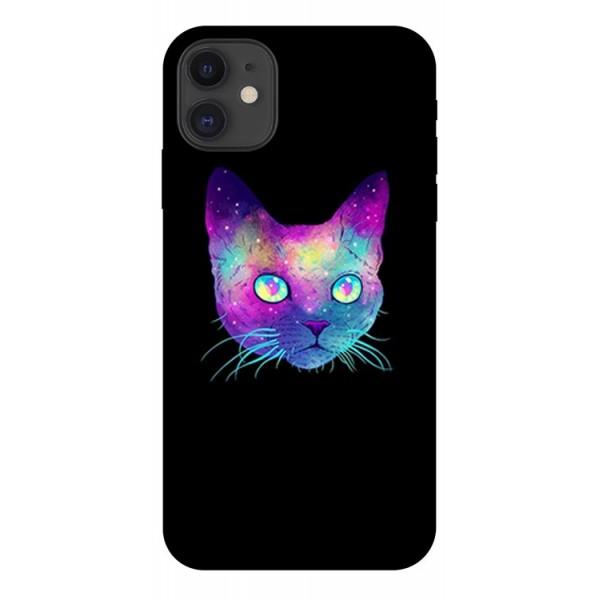 Husa Premium Upzz Print iPhone 11 Model Neon Cat imagine itelmobile.ro 2021